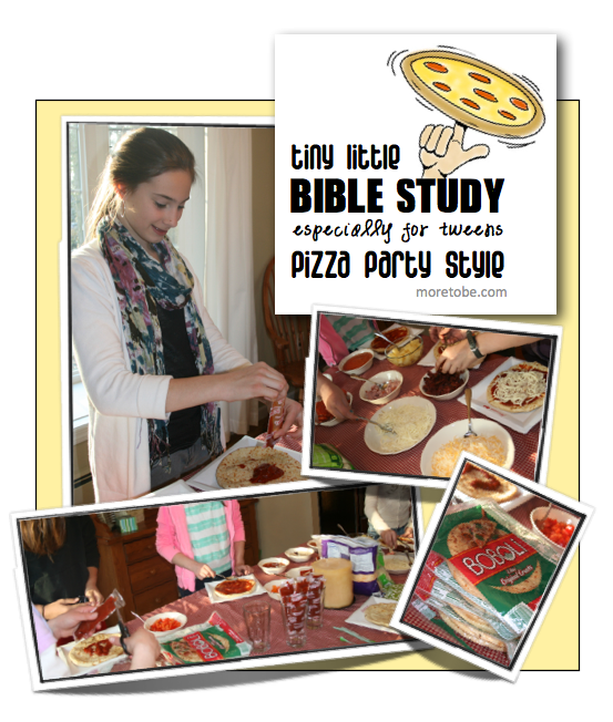 Tween Bible Study Pizza Party Style