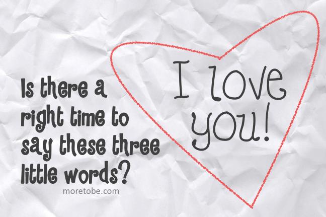 he said i love you