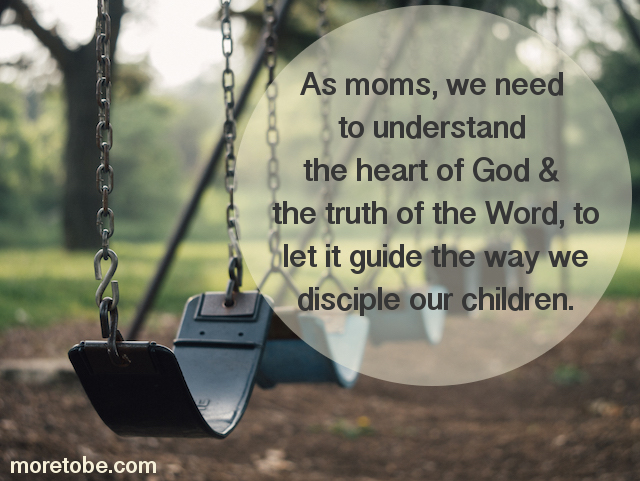 We need to have the heart of God and the truths of the Word at the center of our discipling.