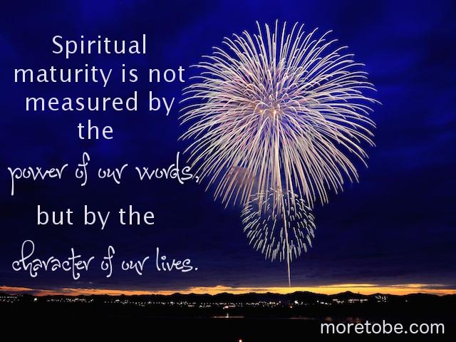 spiritual maturity vs spiritual abuse