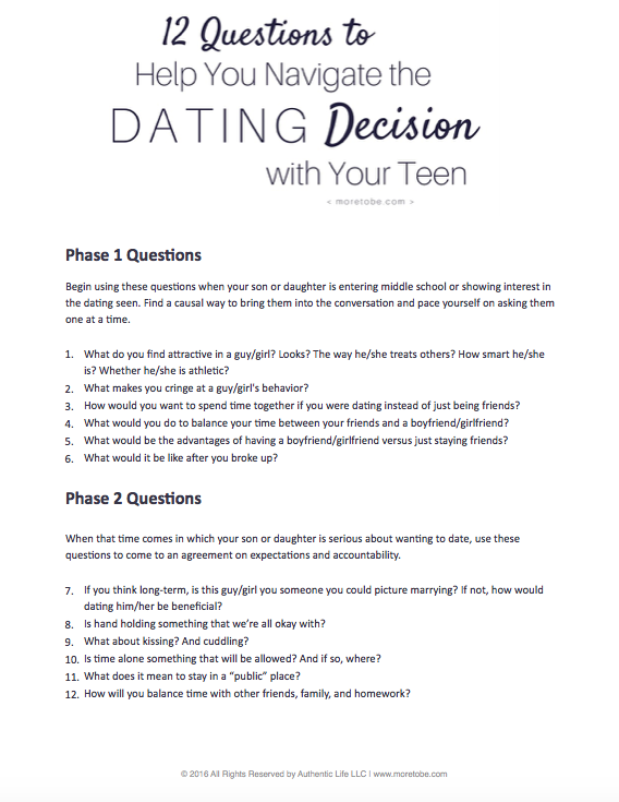Speed dating questions youth christian