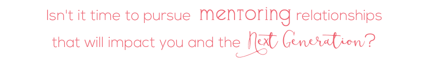 Isn't it time to pursue mentoring relationships?