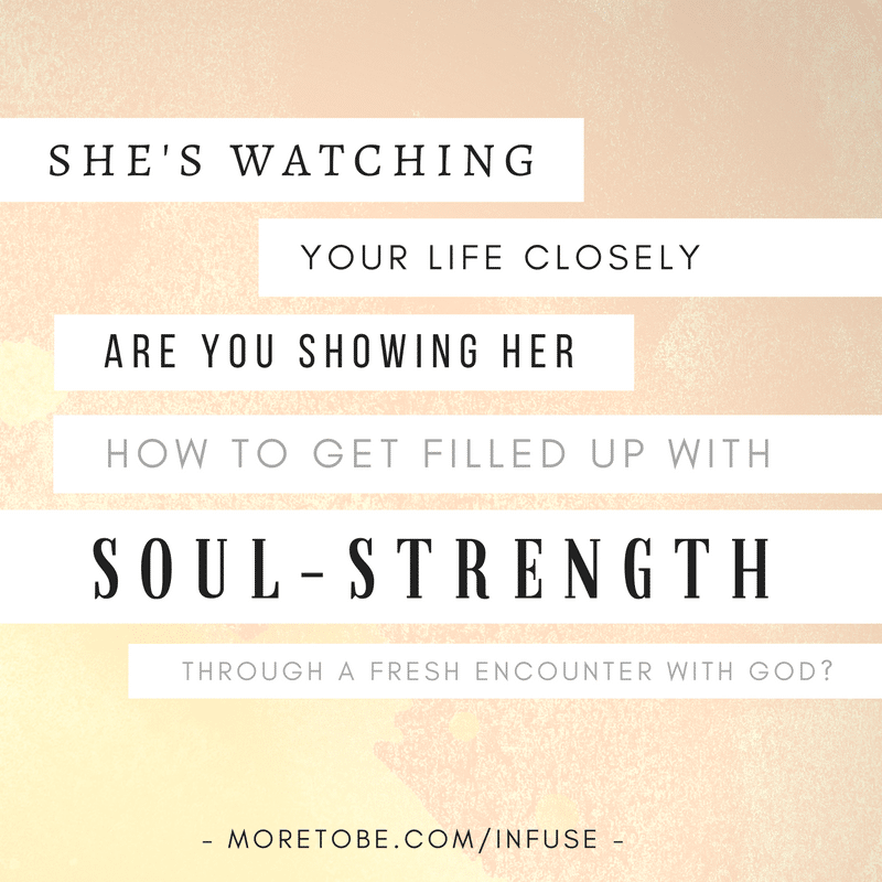 Is it time to get filled up with soul-strength?
