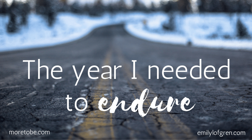 The Year I Needed to Endure
