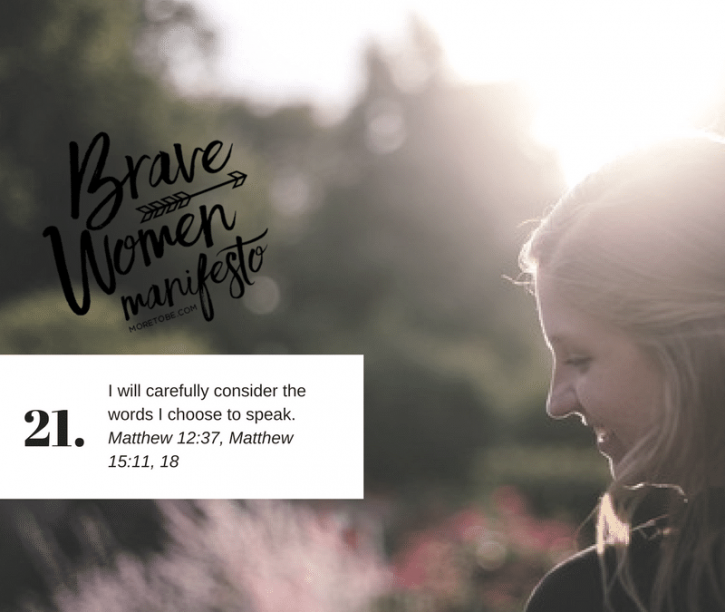 The Impact of Our Words {Brave Women #21}