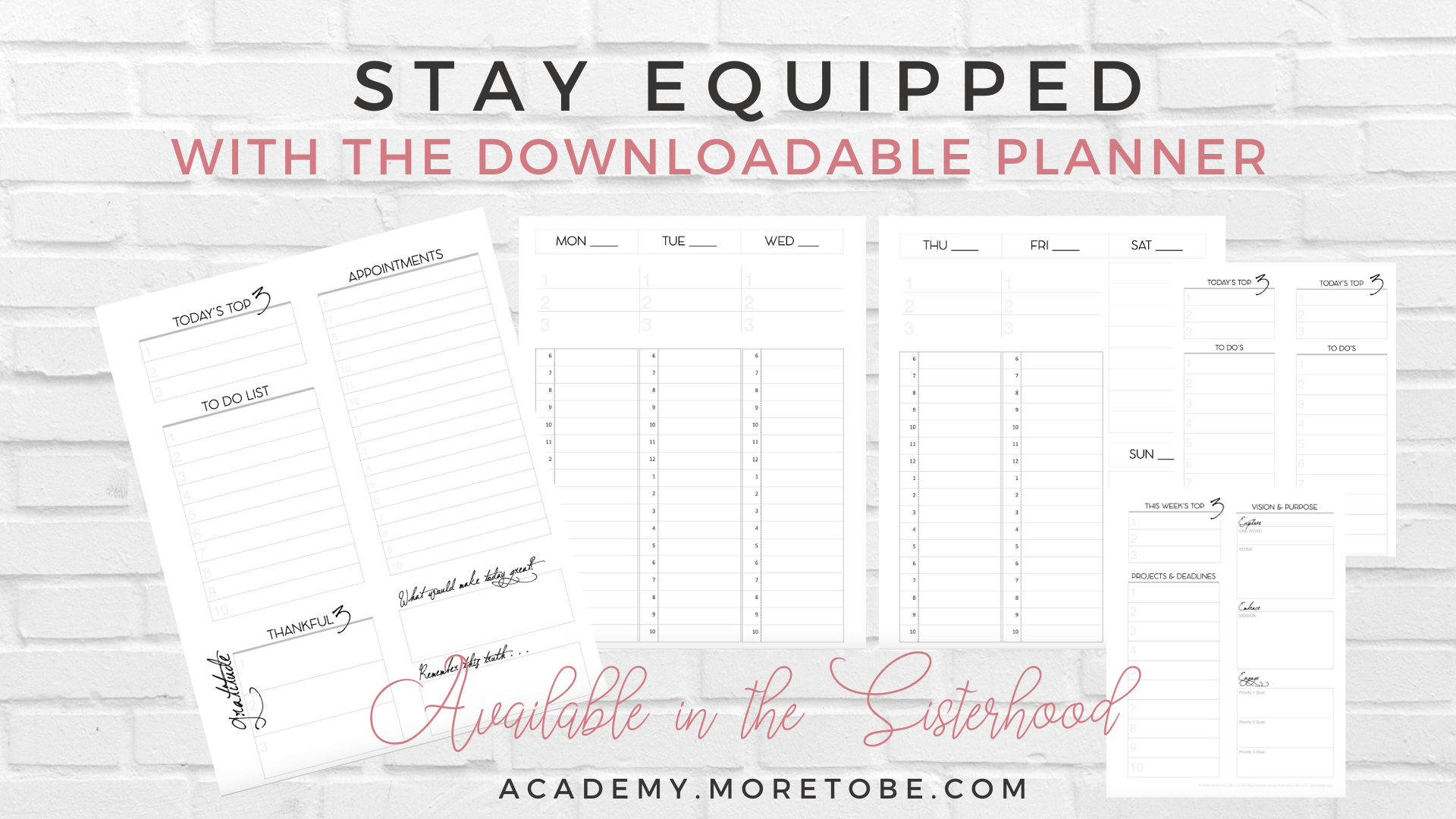 Equipped Downloadable Planner