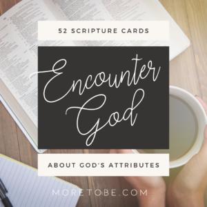 Encounter God: 52 Week Scripture Memory Cards