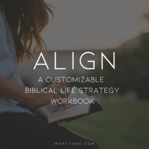 Align: A Customizable Biblical Life Strategy Workbook