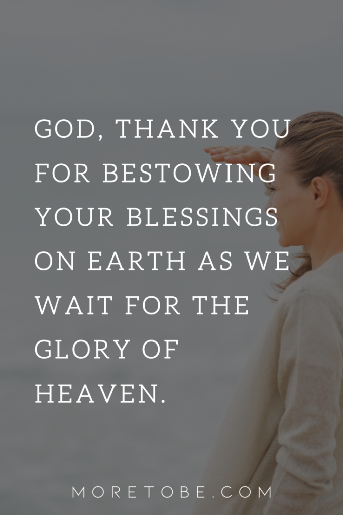 God, thank you for blessings.