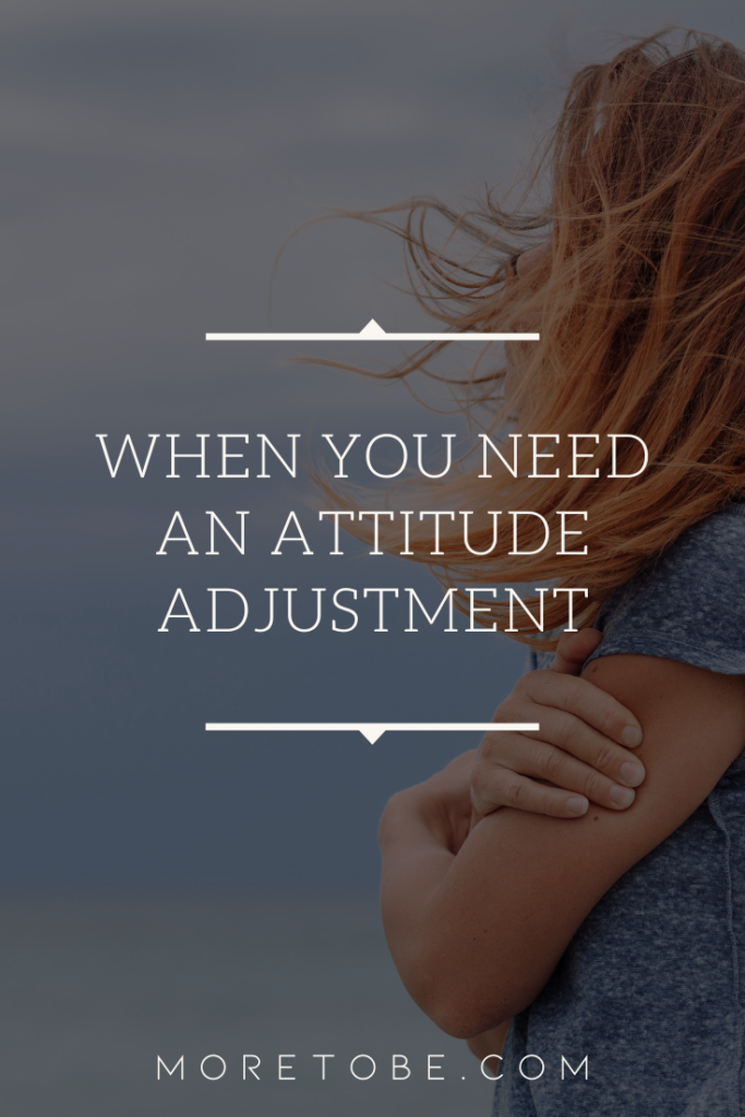 When You Need an Attitude Adjustment