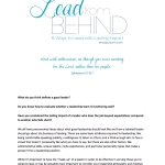 Lead from Behind